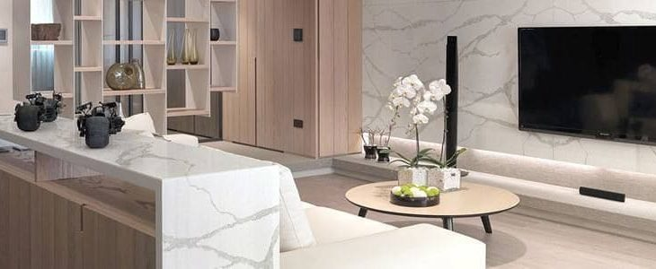 An elegant home with Marble